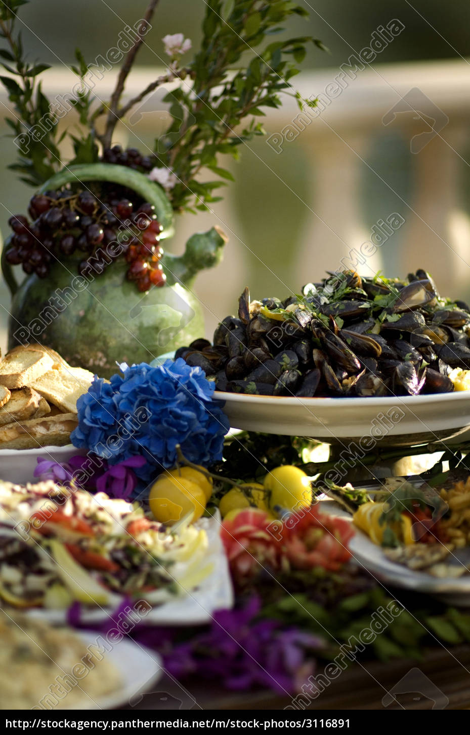 gorgeous, display, of, food, on, decorative - 3116891