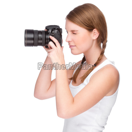young, woman, with, a, camera - 3119397