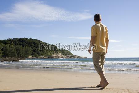 tourist on the beach of bombinhas