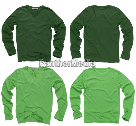 blank green long sleeve shirts