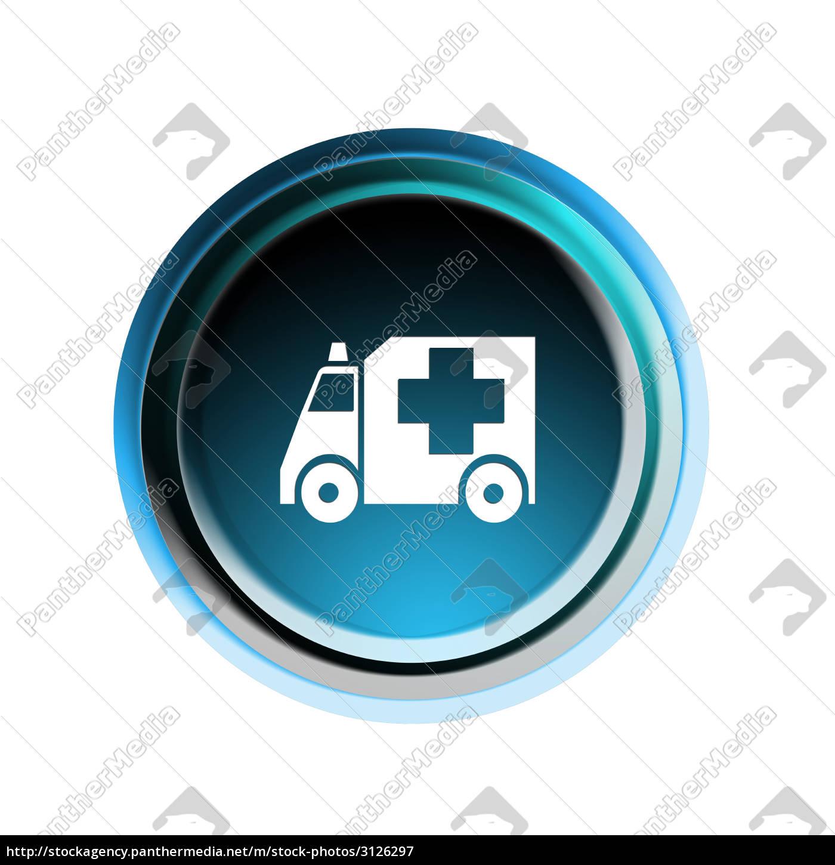 ambulance, button - 3126297