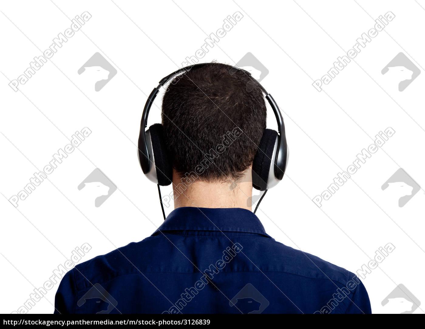 listen, music, portrait, back, earphones, headphones - 3126839