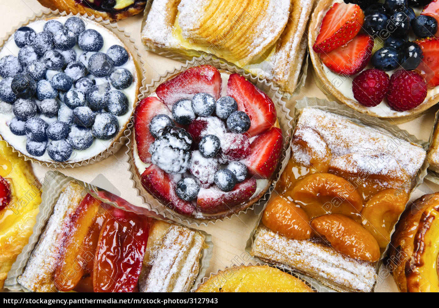 assorted, tarts, and, pastries - 3127943