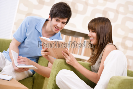 student, -, two, teenager, reading, book - 3129037