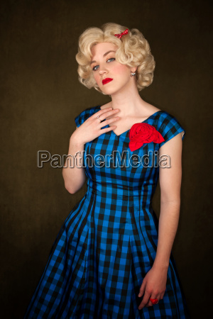 pretty, retro, blonde, woman, in, vintage - 3132195