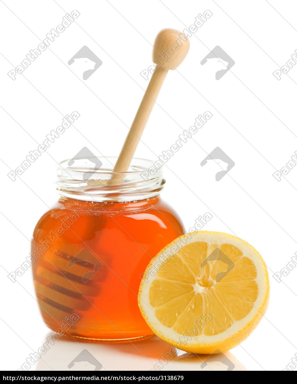 lemon, citron, backdrop, background, white, honey - 3138679