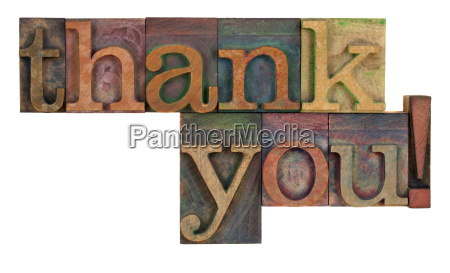 thank, you, in, letterpress, type - 3144473