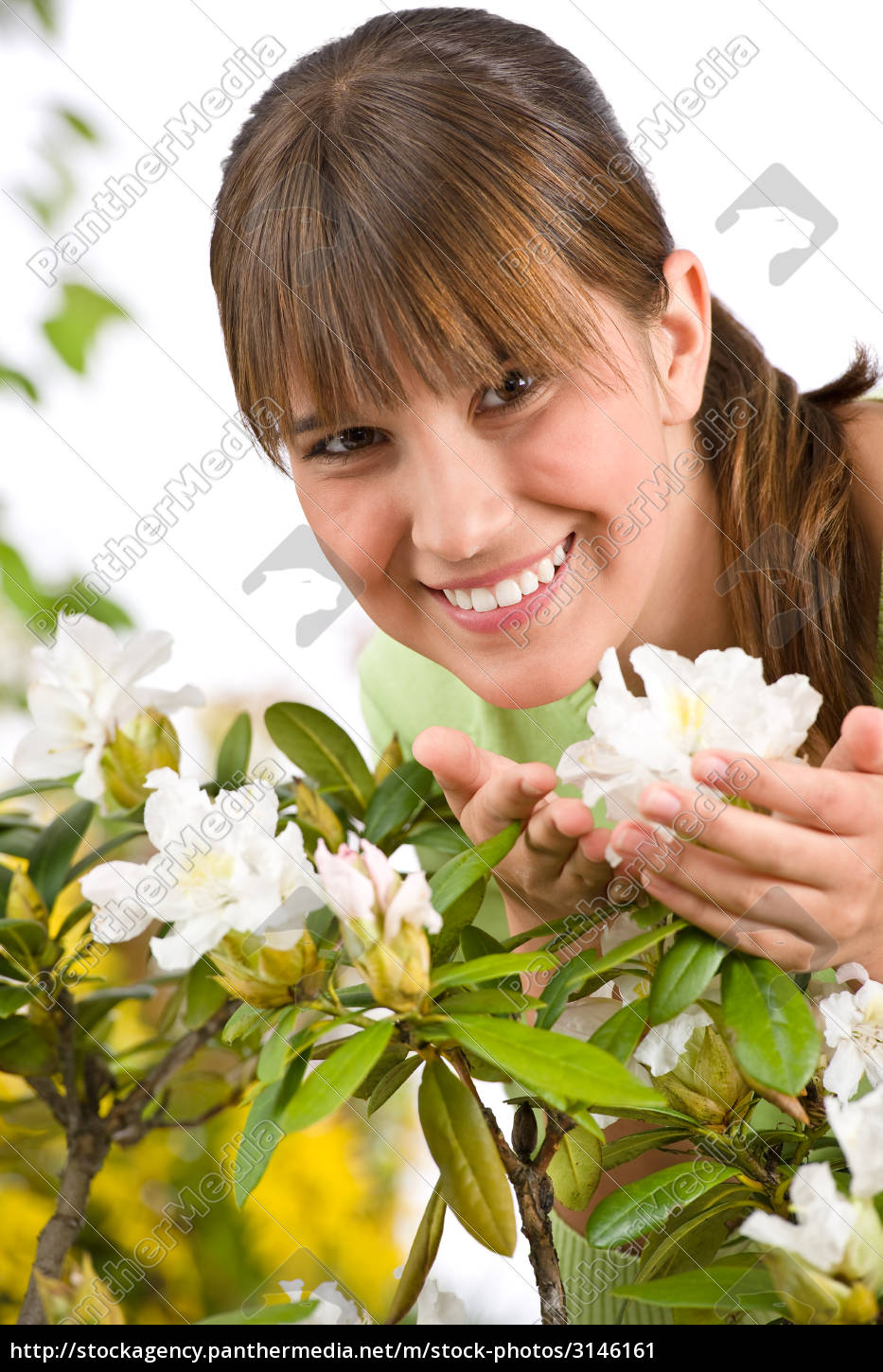 gardening, -, portrait, of, woman, with - 3146161