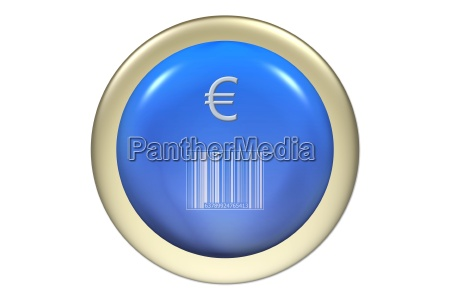 button barcode with euro illustration