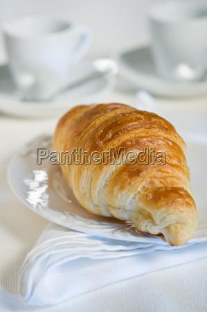 croissants on breakfast plate