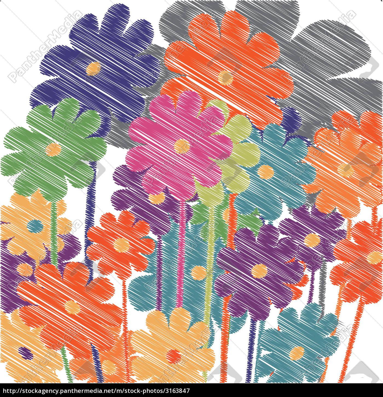 floral, sketch, - 3163847