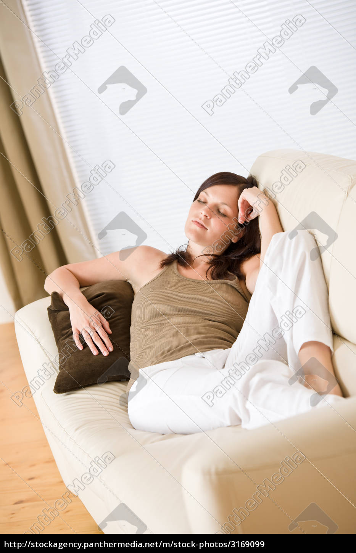 beautiful, woman, lying, down, sleeping - 3169099
