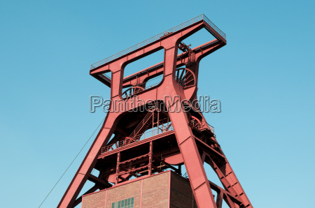 winding tower of a coal mine