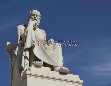 statue, of, socrates, with, copy, space - 3172109
