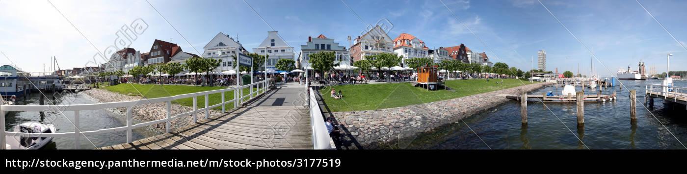 promenade, travemünde, in, panoramic, format - 3177519