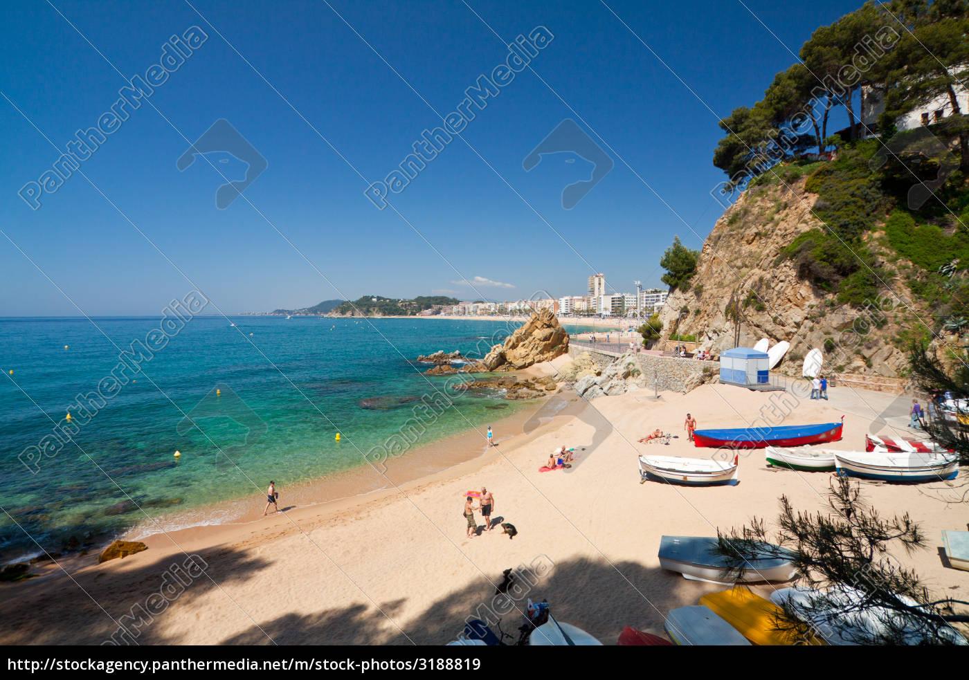 strand, lloret, spanien, boote - 3188819