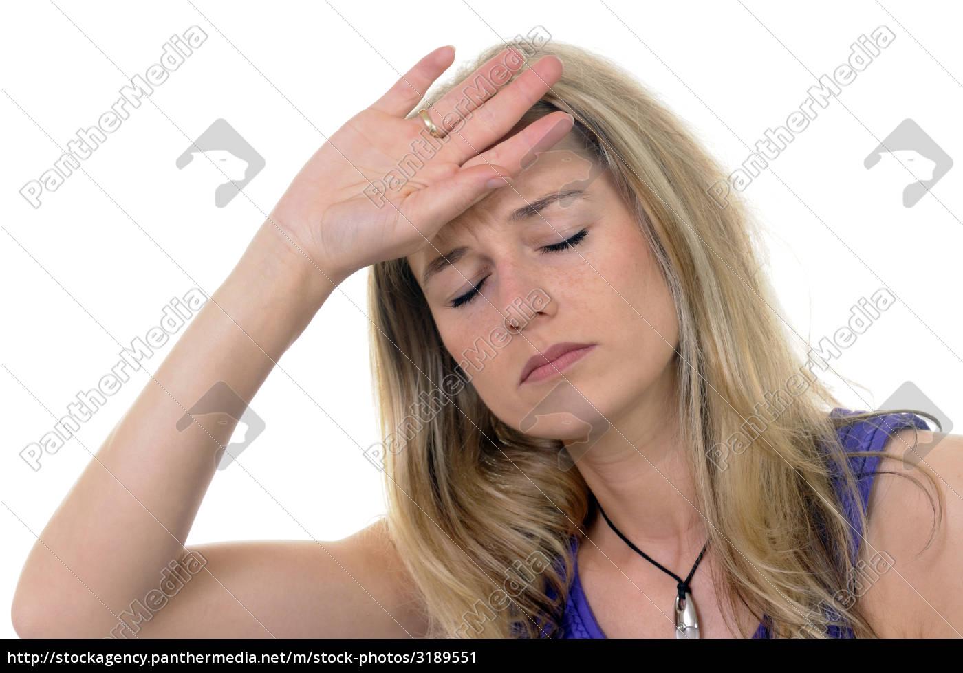 young, woman, has, a, headache - 3189551