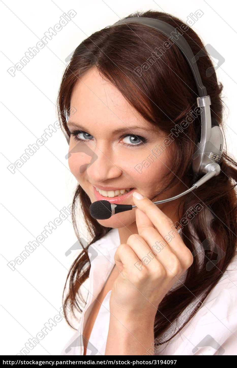 laughing, woman, with, headset - 3194097