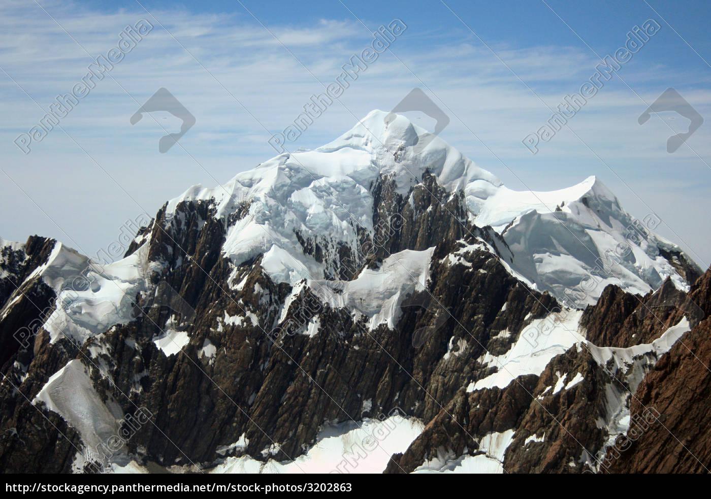 snowy, mountain, peak, new, zealand - 3202863