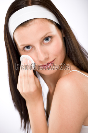 facial, care, -, woman, removing, make-up - 3205791