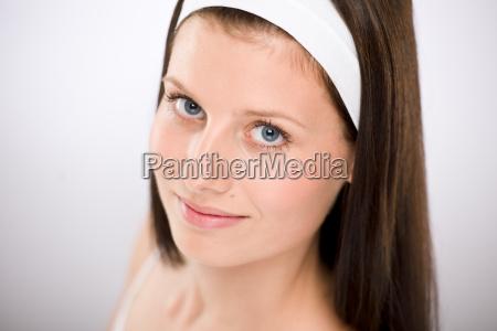 portrait, of, beautiful, brunette, woman - 3205777