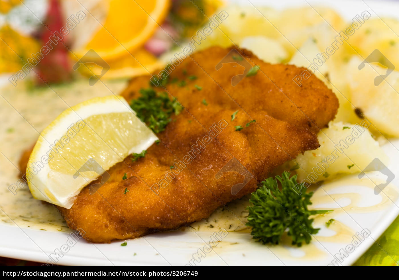 deep, fried, fresh, cod, fish, with - 3206749