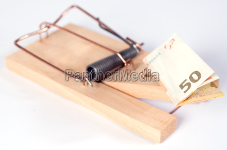 mousetrap, with, euro, note - 3210519