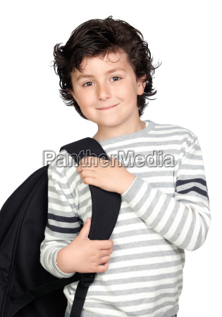beautiful, student, child, with, backpack - 3212469