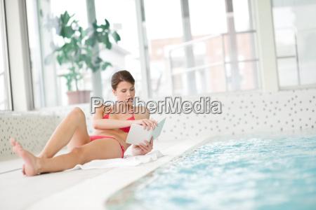 swimming, pool, -, beautiful, woman, in - 3217811