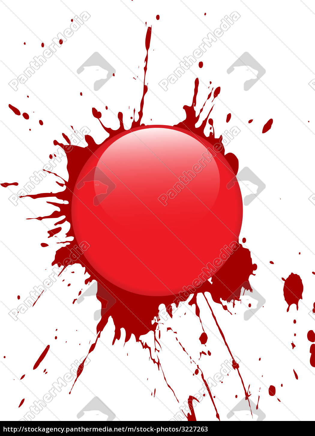 red, glass, button - 3227263