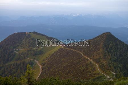 hiking trails at herzogstand bavaria germany