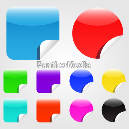 colorful web stickers