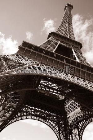 eiffel, tower, , paris, in, sepia - 3235087