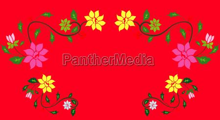 flower pattern in a red