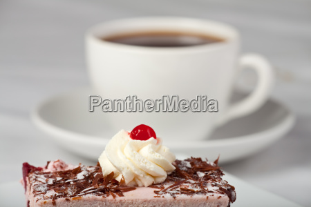 cherry pie and a cup of