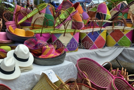 colorful market stall
