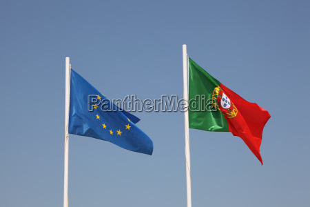 flags of portugal and eu