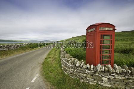 red, telephone, booth, on, rousay, orkney - 3259639