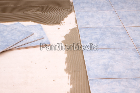 tiles are laid on the ground