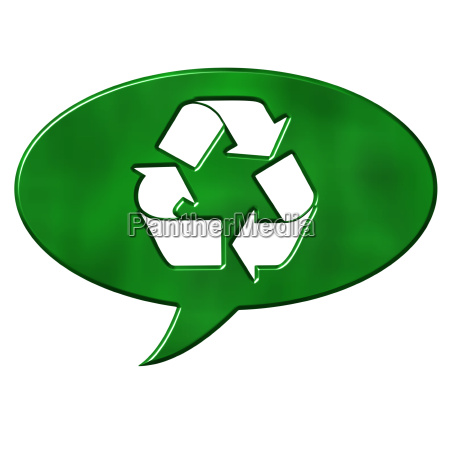 recycling speech bubble sign