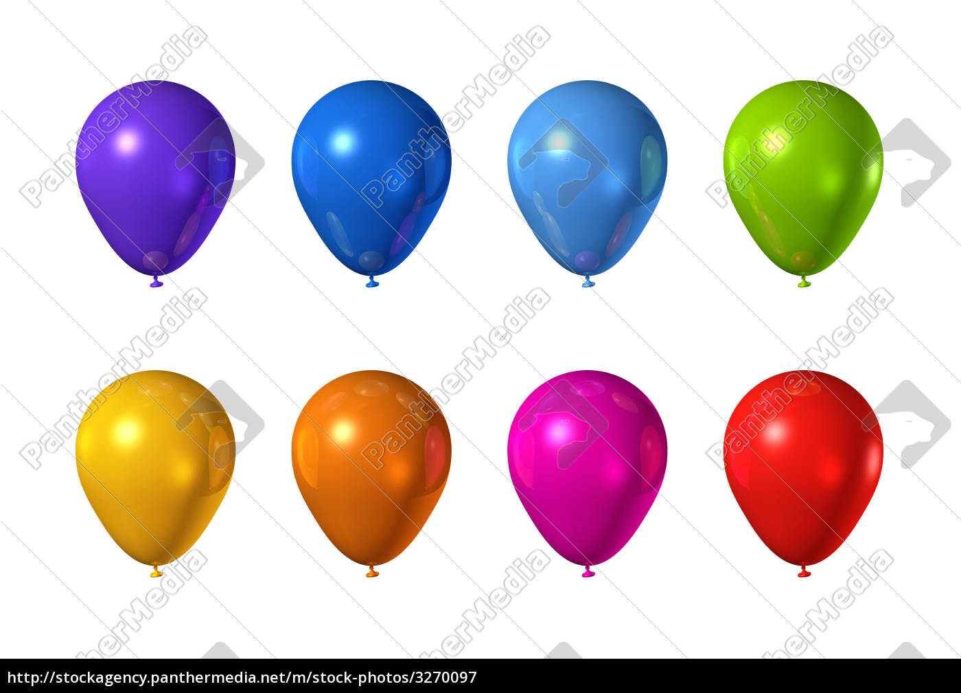 colored, balloons, isolated, on, white - 3270097