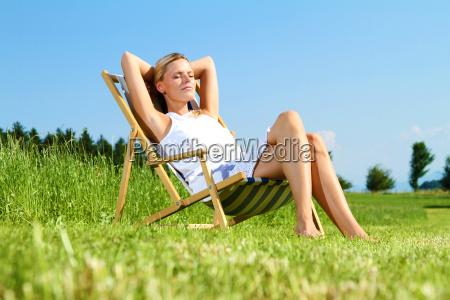 woman lounging