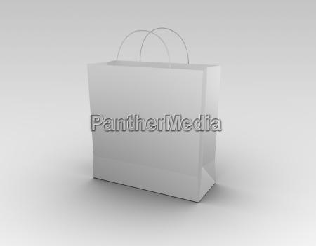 white, shopping, bag., 3d, render. - 3278373