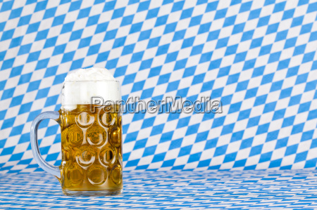 oktoberfest beer mug with froth