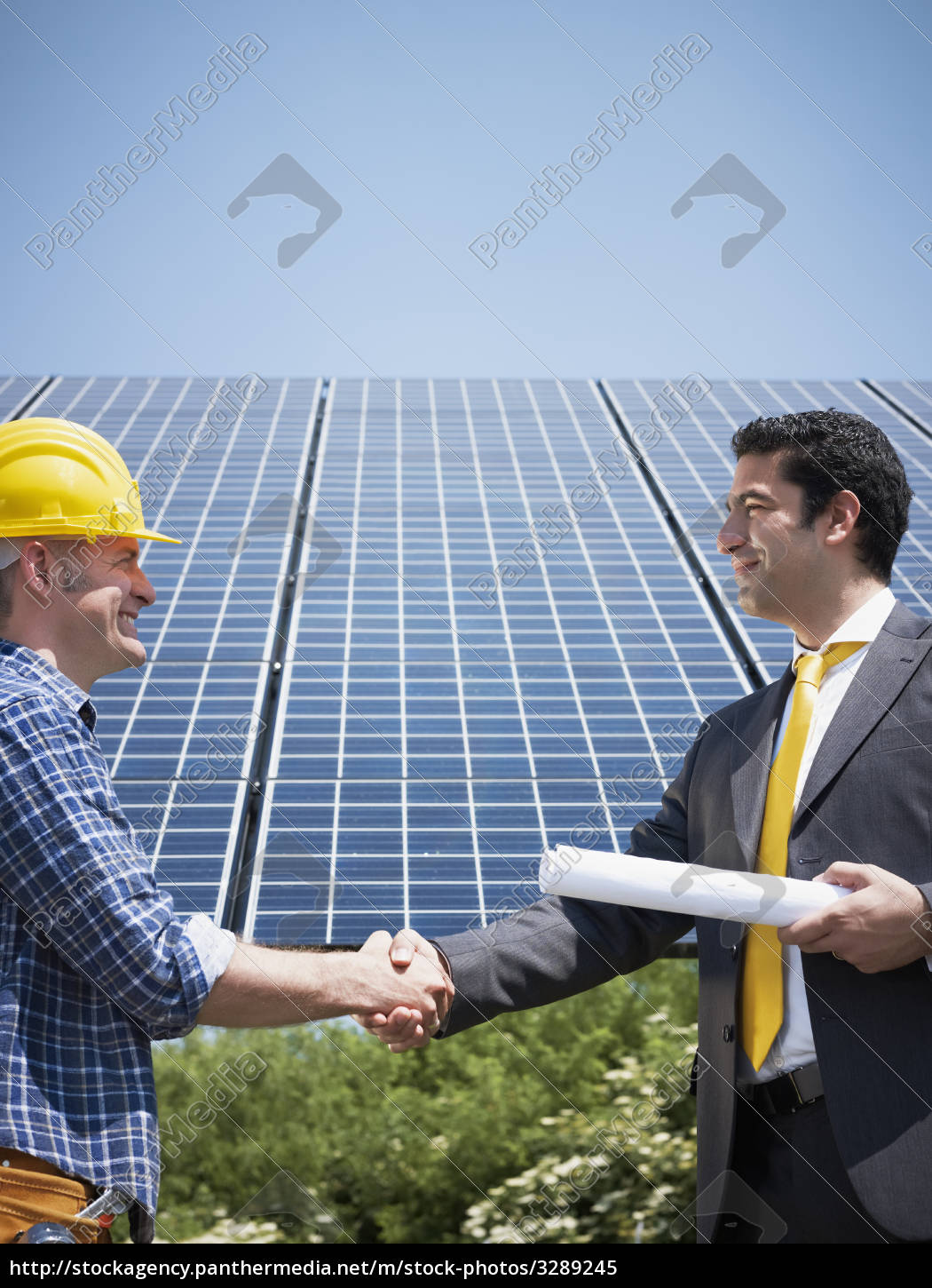businessman, and, solar, panels - 3289245