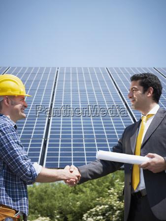 businessman, and, solar, panels - 3289245