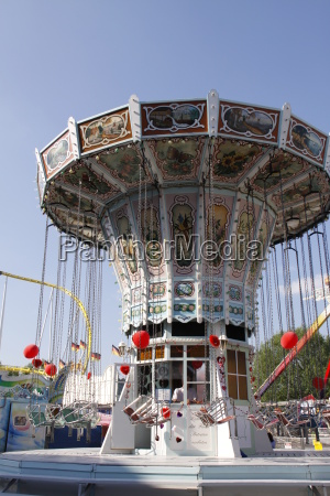 chairoplane at a folk festival