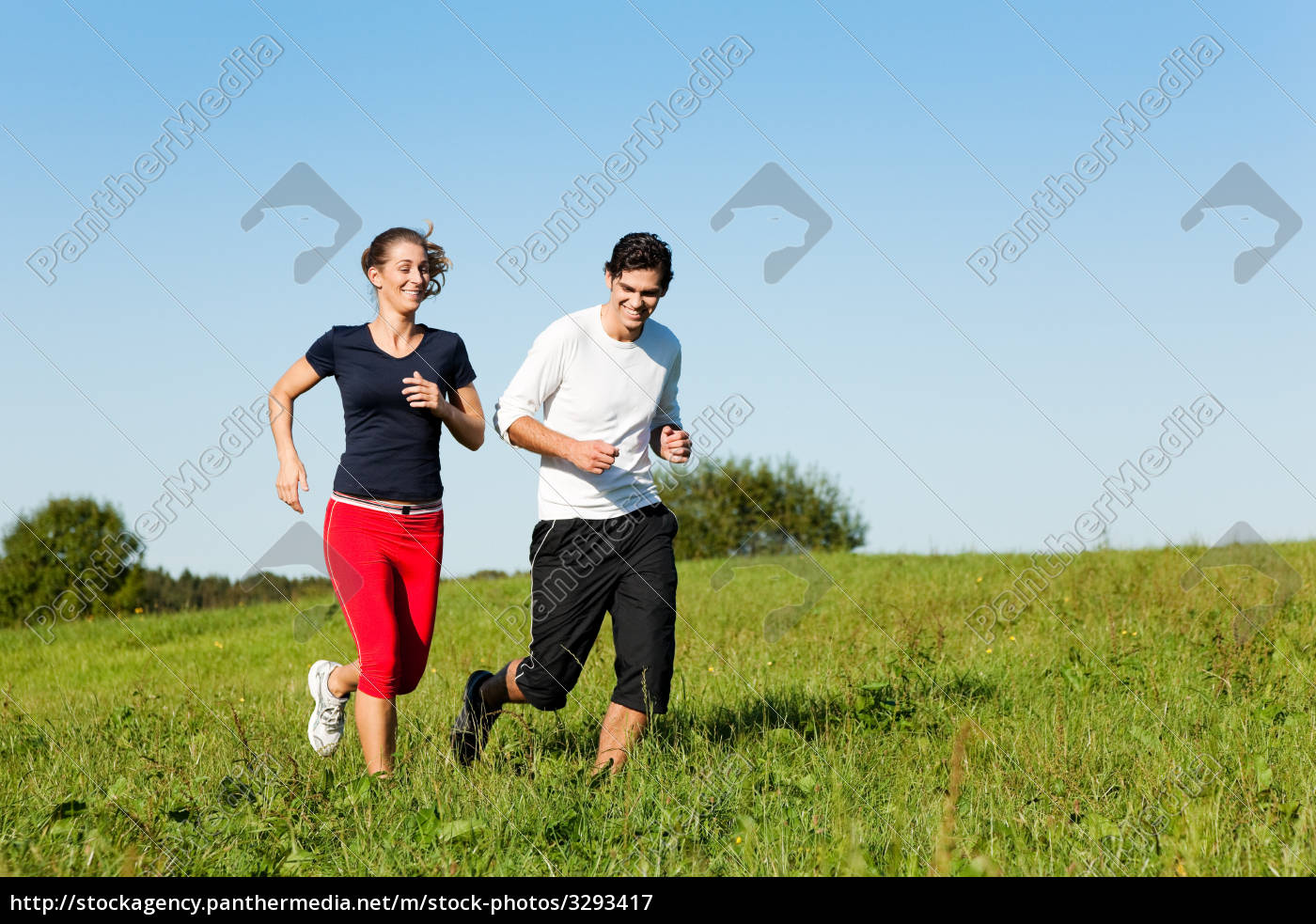 sport, couple, jogging, in, summer - 3293417