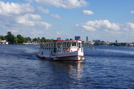 navio a vapor agua salgada mar