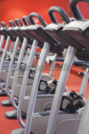 bicycles in gym